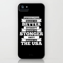 Immigration USA iPhone Case