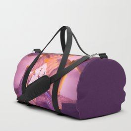 Butterflies In Flight - Pink And Purple Illustration #decor #society6 Duffle Bag
