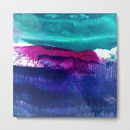 Encaustic Abstract No.27E by Kathy Morton Stanion Metal Print