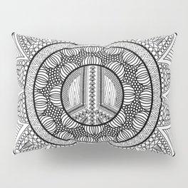 Peace Mandala Pillow Sham