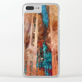 Rose Gold Woods Clear iPhone Case