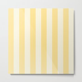 Pale yellow and cream vertical striped Metal Print