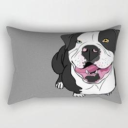 Bubba, the American Bulldog Rectangular Pillow