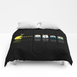 Pacman with Tintin Ghosts Comforters