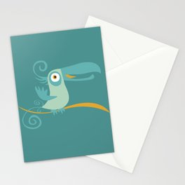 Mid Century Modern Tropical Toucan Tiki Bird Stationery Cards