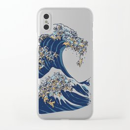 The Great Wave Of  Cat Clear iPhone Case