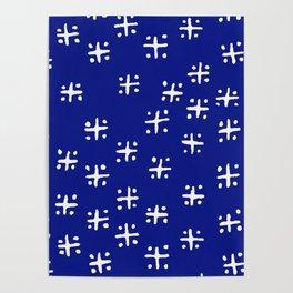 Mudcloth Blue Poster