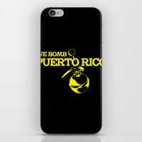 puerto rico iPhone & iPod Skins featuring We Bomb Puerto Rico by Grime Lab