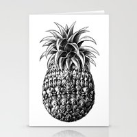 ornate Stationery Cards featuring Ornate Pineapple by BIOWORKZ