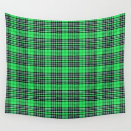 Lunchbox Green Plaid Wall Tapestry