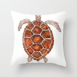 Turtle,Shell, Tortoise, Sealife, Lover, Animal Love, Brown Turtle, Wildlife, Turtle Lover, Turtles Throw Pillow