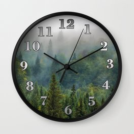 Forest and Fog 03 Wall Clock