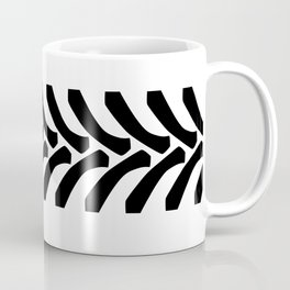 Tractor Tyre Tread Marks Coffee Mug