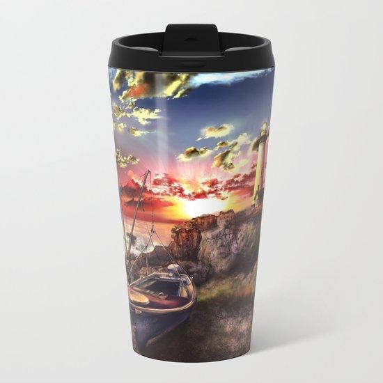 lighthouse landscape sky Metal Travel Mug