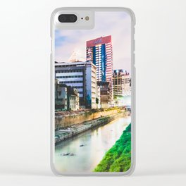 On going rapid urbanization leads to river pollution. Clear iPhone Case