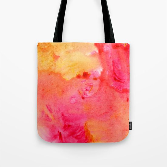 Peach flow Tote Bag