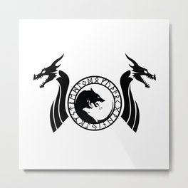 Norse Dragon - Fenrir Metal Print