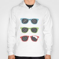 sunglasses Hoodies featuring Sunglasses by Things and Other Things