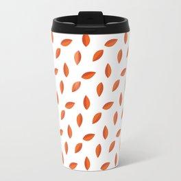 Orange Leaves Travel Mug