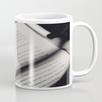 letters Mugs featuring Letters by Sarah L. Hurd