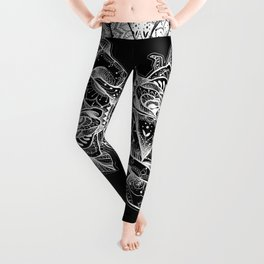 Henna Rose Tattoo Leggings