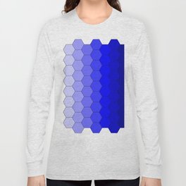 Hexagons (Blue) Long Sleeve T-shirt