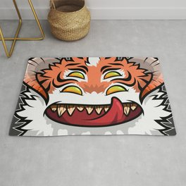 Diabolical Fuzzball (tiger) Rug