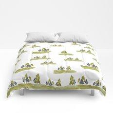 Varigated pine forest Comforters