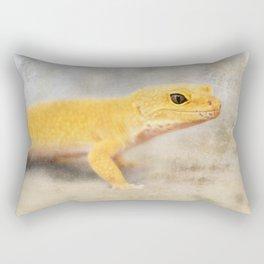 Portrait of a Leopard Gecko Rectangular Pillow