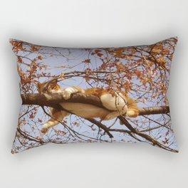 Cat on a tree Rectangular Pillow