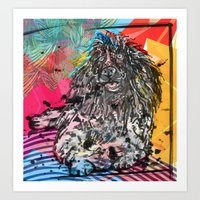 Poodle 2 pop art Art Print