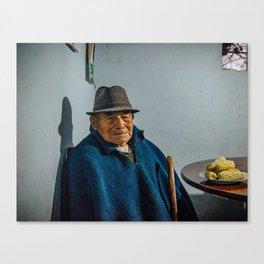 Abuelo y su choclo Canvas Print