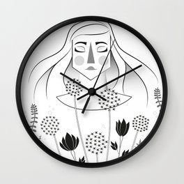 Allium Garden Wall Clock