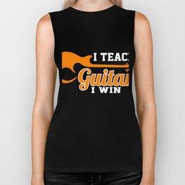 Gift Ideas For Guitar Lover. Costume For Guitar Teacher. Biker Tank