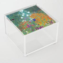 Gustav Klimt Flower Garden Acrylic Box