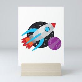 The Last Rocket Launching Mini Art Print