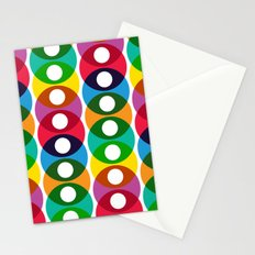 Geometric bubbles Stationery Cards