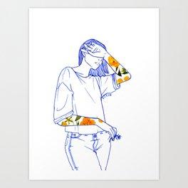 Wallflower(I) Art Print