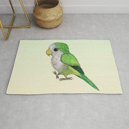 Very cute green parrot Rug