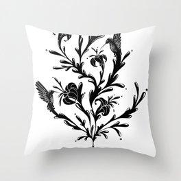 Fluid Bloom Throw Pillow