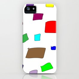 Hand Drawn Wannabe Squares (Jamison) iPhone Case