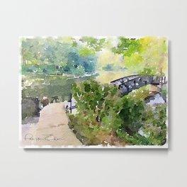 Watercolor - Blairstown Bridge Metal Print