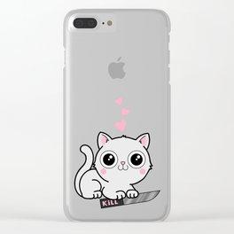 Kitty Hearts Kill - Cats Love Plotting Clear iPhone Case