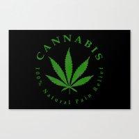 cannabis Canvas Prints featuring Cannabis by PsychoBudgie