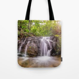 Sun light Water fall Tote Bag