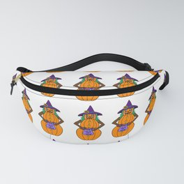 Trick Or Treat Halloween Pumpkin Witch  Fanny Pack