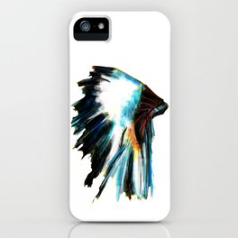 Indian Headdress Native America Illustration iPhone Case