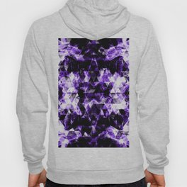 Electrifying ultra violet purple sparkly triangle flames Hoody