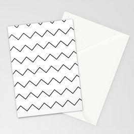 Black white geometrical minimalist chevron Stationery Cards