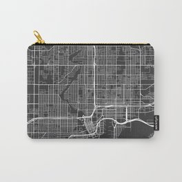 Tampa Map, USA - Gray Carry-All Pouch